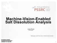 Machine-Vision-Enabled Salt Dissolution Analysis